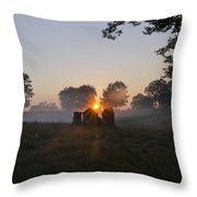 Philadelphia Cricket Club Sunrise Throw Pillow by Bill Cannon