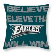 Philadelphia Eagles I Believe Throw Pillow