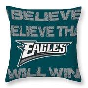 Philadelphia Eagles I Believe Throw Pillow