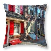 Philadelphia Elphreth's Alley Throw Pillow