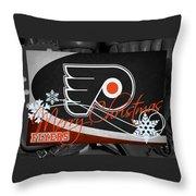 Philadelphia Flyers Christmas Throw Pillow