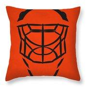 Philadelphia Flyers Goalie Mask Throw Pillow
