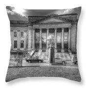 Philadelphia Franklin Museum 2 Bw Throw Pillow