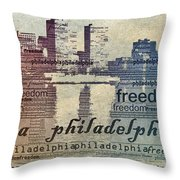 Philadelphia Freedom Throw Pillow