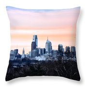 Philadelphia From Belmont Plateau Throw Pillow by Bill Cannon