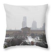 Philadelphia From Lemon Hill Throw Pillow
