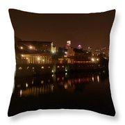 Philadelphia From The Schuykill Throw Pillow