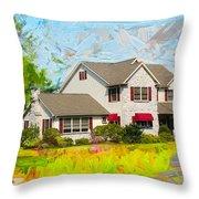 Philadelphia House Throw Pillow