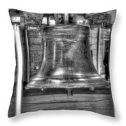 Philadelphia Liberty Bell Bw Throw Pillow