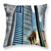 Philadelphia Liberty Place Tower And Street Lamp 1 Throw Pillow