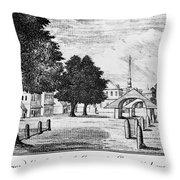Philadelphia Market, 1788 Throw Pillow