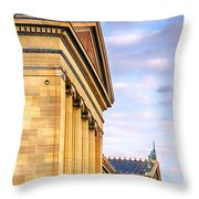 Philadelphia Museum Of Art Facade Throw Pillow