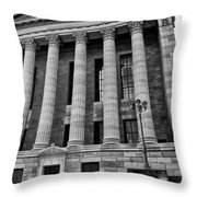 Philadelphia Museum Of Art - West Entrance Throw Pillow