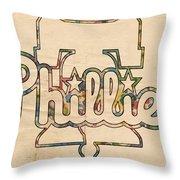 Philadelphia Phillies Logo Art Throw Pillow