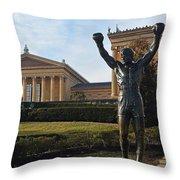 Philadelphia - Rocky  Throw Pillow