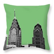 Philadelphia Skyline Liberty Place 2 - Apple Throw Pillow