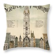 Philadelphia Skyscrapers Throw Pillow