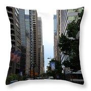 Philadelphia Street Canyon Throw Pillow
