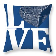 Philadelphia Street Map Love - Philadelphia Pennsylvania Texas R Throw Pillow