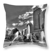 Philadelphia-swan Fountain Throw Pillow