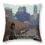 Philadelphia - The Parkway Throw Pillow