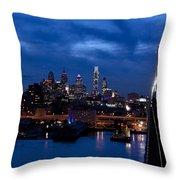 Philadelphia Twilight Throw Pillow