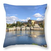 Philadelphia Water Works And Art Museum 11 Throw Pillow