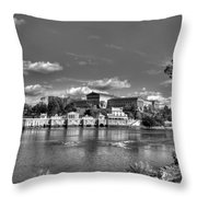 Philadelphia Water Works And Art Museum 2 Bw Throw Pillow