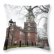 Philadelphia's Independence Hall Throw Pillow