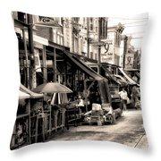Philadelphia's Italian Market Throw Pillow by Bill Cannon