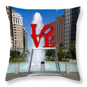 Philadelphia's Love Park Throw Pillow