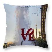 Philadelphia's Love Story Throw Pillow