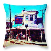 Philadelphia's Pat's Steaks Throw Pillow