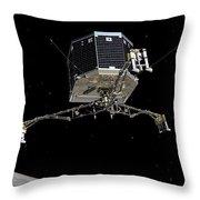 Philae Lander Descending To Comet 67pc-g Throw Pillow