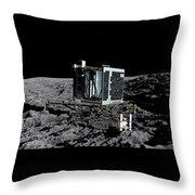 Philae Lander On Comet 67pc-g Throw Pillow