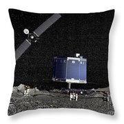 Philae Lander On Surface Of A Comet Throw Pillow