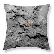 Philae Lander Touchdown Point On Comet Throw Pillow