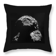 Philae Landing Site On Comet 67pc-g Throw Pillow