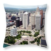 Philip A Hart Plaza Detroit Throw Pillow