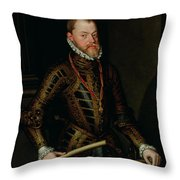 Philip II Of Spain C.1570 Throw Pillow