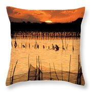 Philippines Manila Fishing Throw Pillow by Anonymous
