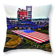Phillies American Throw Pillow