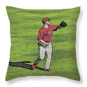 Phillies Catch Throw Pillow