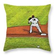 Phillies First Baseman Throw Pillow