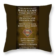 Phillies Peanuts And Cracker Jack  Throw Pillow by Movie Poster Prints