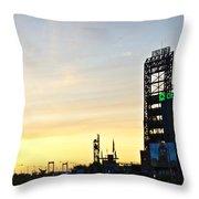 Phillies Stadium At Dawn Throw Pillow