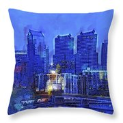 Philly Blue Throw Pillow