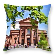 Philly Church View Throw Pillow