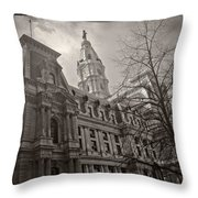 Philly City Hall Throw Pillow