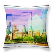 Philly Colours Throw Pillow